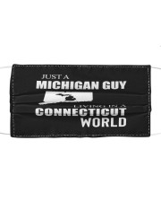 JUST A MICHIGAN GUY IN A CONNECTICUT WORLD Cloth face mask thumbnail