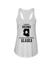 LIVE IN ARIZONA BUT BELONG TO ALASKA Ladies Flowy Tank thumbnail