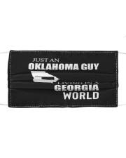 JUST AN OKLAHOMA GUY IN A GEORGIA WORLD Cloth face mask thumbnail