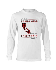 JUST A IDAHO GIRL IN A CALIFORNIA WORLD Long Sleeve Tee thumbnail