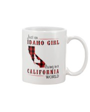 JUST A IDAHO GIRL IN A CALIFORNIA WORLD Mug thumbnail