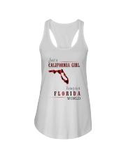 JUST A CALIFORNIA GIRL IN A FLORIDA WORLD Ladies Flowy Tank thumbnail