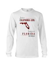 JUST A CALIFORNIA GIRL IN A FLORIDA WORLD Long Sleeve Tee thumbnail