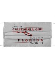 JUST A CALIFORNIA GIRL IN A FLORIDA WORLD Cloth face mask thumbnail