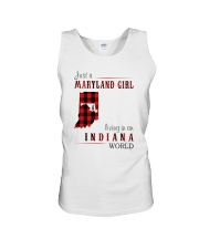 JUST A MARYLAND GIRL IN AN INDIANA WORLD Unisex Tank thumbnail