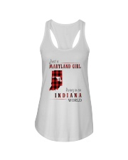JUST A MARYLAND GIRL IN AN INDIANA WORLD Ladies Flowy Tank thumbnail
