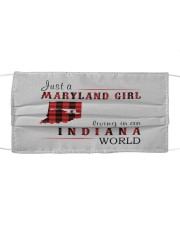 JUST A MARYLAND GIRL IN AN INDIANA WORLD Cloth face mask thumbnail