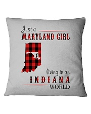 JUST A MARYLAND GIRL IN AN INDIANA WORLD Square Pillowcase thumbnail