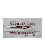 JUST A GEORGIA GIRL IN A NORTH CAROLINA WORLD Cloth face mask thumbnail