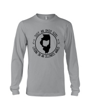 OHIO GIRL LIVING IN ILLINOIS WORLD Long Sleeve Tee thumbnail
