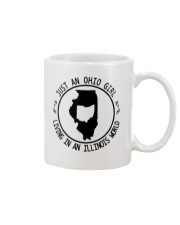 OHIO GIRL LIVING IN ILLINOIS WORLD Mug thumbnail