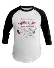 CALIFORNIA NORTH CAROLINA THE LOVE MOTHER AND SON Baseball Tee thumbnail
