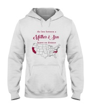 CALIFORNIA NORTH CAROLINA THE LOVE MOTHER AND SON Hooded Sweatshirt thumbnail