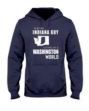 JUST AN INDIANA GUY IN A WASHINGTON WORLD Hooded Sweatshirt front