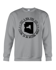 NEW YORK GIRL LIVING IN ARIZONA WORLD Crewneck Sweatshirt thumbnail