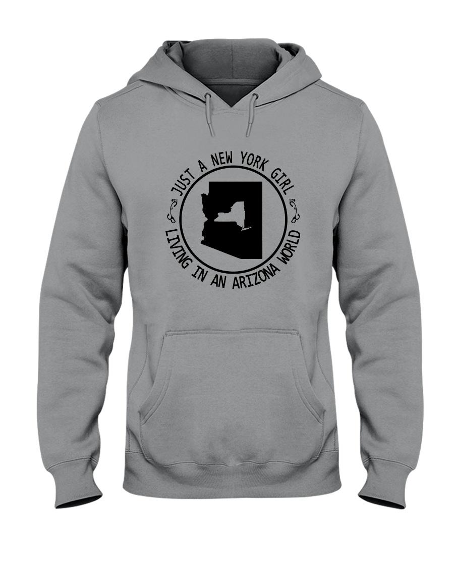 NEW YORK GIRL LIVING IN ARIZONA WORLD Hooded Sweatshirt