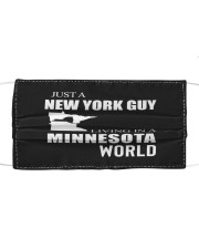 JUST A NEW YORK GUY IN A MINNESOTA WORLD Cloth face mask thumbnail