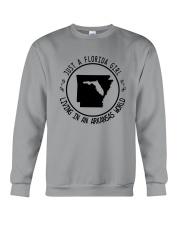 FLORIDA GIRL LIVING IN ARKANSAS WORLD Crewneck Sweatshirt thumbnail