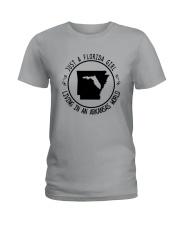 FLORIDA GIRL LIVING IN ARKANSAS WORLD Ladies T-Shirt thumbnail