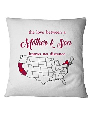 CALIFORNIA NEW YORK THE LOVE MOTHER AND SON Square Pillowcase thumbnail
