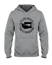 NORTH CAROLINA GIRL LIVING IN WASHINGTON WORLD Hooded Sweatshirt front