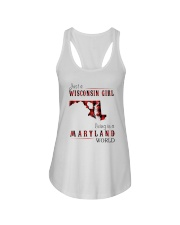 JUST A WISCONSIN GIRL IN A MARYLAND WORLD Ladies Flowy Tank thumbnail