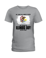 MY TIME IN ILLINOIS BUT BEING AN ILLINOIS GUY Ladies T-Shirt thumbnail