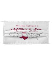 TEXAS NORTH DAKOTA THE LOVE MOTHER AND SON Cloth face mask thumbnail