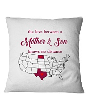 TEXAS NORTH DAKOTA THE LOVE MOTHER AND SON Square Pillowcase thumbnail