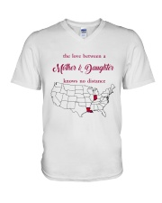 LOUISIANA INDIANA THE LOVE MOTHER AND DAUGHTER V-Neck T-Shirt thumbnail