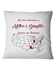 LOUISIANA INDIANA THE LOVE MOTHER AND DAUGHTER Square Pillowcase thumbnail
