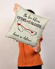 "CALIFORNIA NORTH CAROLINA-MOTHER AND DAUGHTER Indoor Pillow - 16"" x 16"" aos-decorative-pillow-lifestyle-front-02"