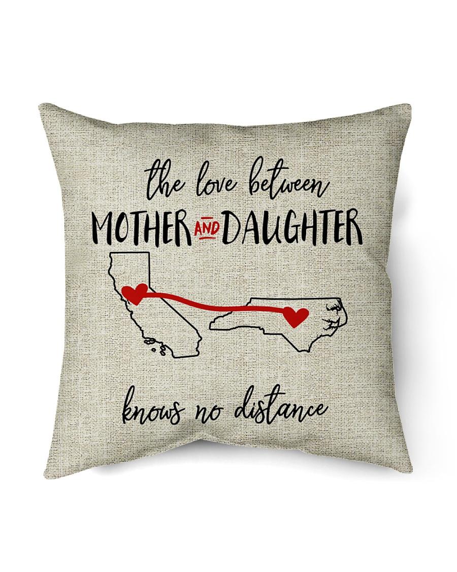 """CALIFORNIA NORTH CAROLINA-MOTHER AND DAUGHTER Indoor Pillow - 16"""" x 16"""""""