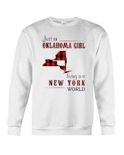 JUST AN OKLAHOMA GIRL IN A NEW YORK WORLD Crewneck Sweatshirt thumbnail