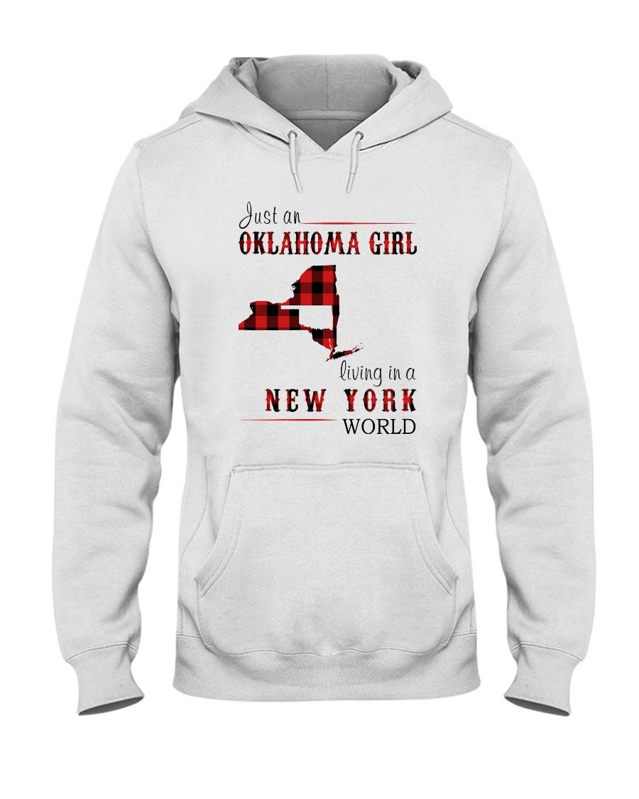 JUST AN OKLAHOMA GIRL IN A NEW YORK WORLD Hooded Sweatshirt
