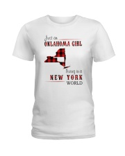 JUST AN OKLAHOMA GIRL IN A NEW YORK WORLD Ladies T-Shirt thumbnail