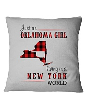 JUST AN OKLAHOMA GIRL IN A NEW YORK WORLD Square Pillowcase thumbnail