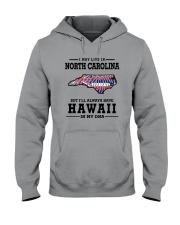 LIVE IN NORTH CAROLINA BUT HAWAII IN MY DNA Hooded Sweatshirt thumbnail
