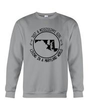 MISSISSIPPI GIRL LIVING IN MARYLAND WORLD Crewneck Sweatshirt thumbnail