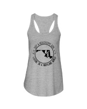MISSISSIPPI GIRL LIVING IN MARYLAND WORLD Ladies Flowy Tank thumbnail