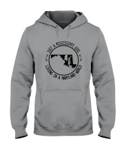 MISSISSIPPI GIRL LIVING IN MARYLAND WORLD Hooded Sweatshirt front