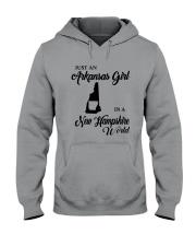 JUST AN ARKANSAS GIRL IN A NEW HAMPSHIRE WORLD Hooded Sweatshirt thumbnail