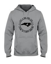 NEW YORK GIRL LIVING IN NORTH CAROLINA WORLD Hooded Sweatshirt front