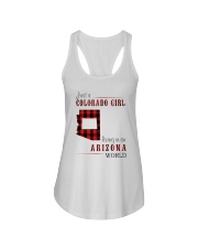 JUST A COLORADO GIRL IN AN ARIZONA WORLD Ladies Flowy Tank thumbnail