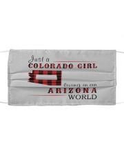 JUST A COLORADO GIRL IN AN ARIZONA WORLD Cloth face mask thumbnail