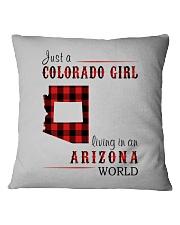 JUST A COLORADO GIRL IN AN ARIZONA WORLD Square Pillowcase thumbnail