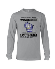 LIVE IN WISCONSIN BUT LOUISIANA IN MY DNA Long Sleeve Tee thumbnail