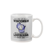 LIVE IN WISCONSIN BUT LOUISIANA IN MY DNA Mug thumbnail