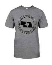 TEXAS GIRL LIVING IN NEBRASKA WORLD Classic T-Shirt thumbnail