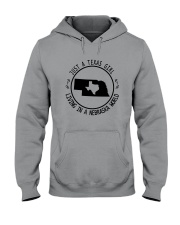 TEXAS GIRL LIVING IN NEBRASKA WORLD Hooded Sweatshirt front